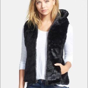 Stella + Lorenzo Faux fur reversible vest